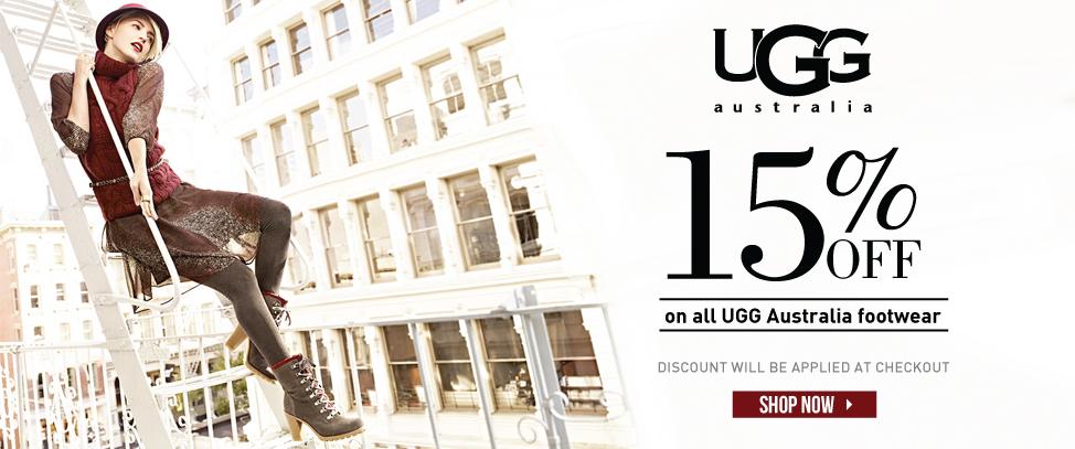 UGG Australia 15% off!