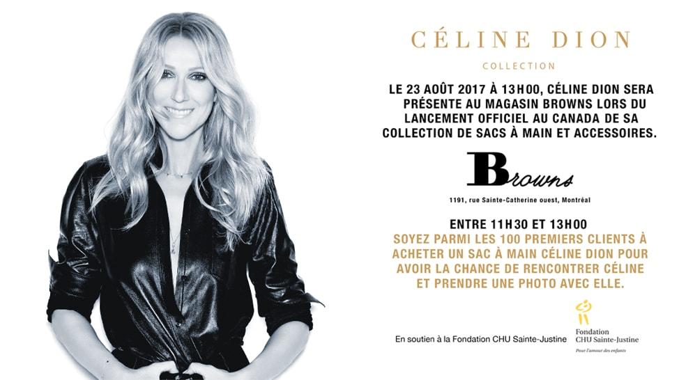 Invitation de Céline dion