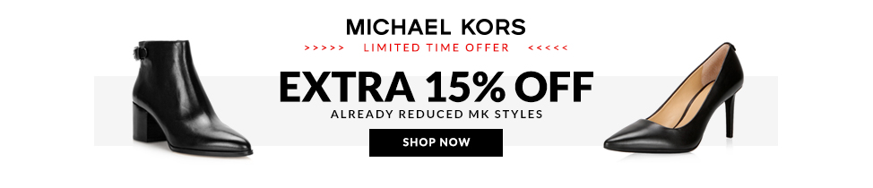 Extra 15% Off Michael Kors Shoes already reduced.