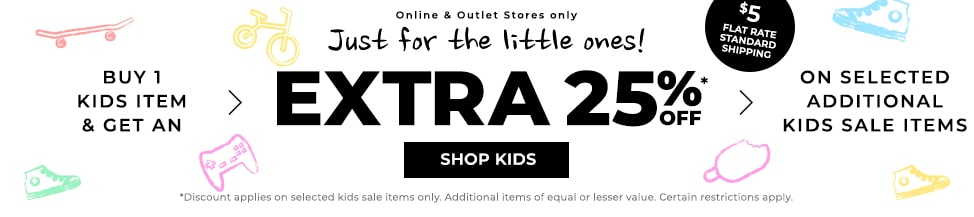 EXTRA 25% OFF*