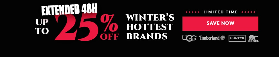 Up To 25% Off Winter Hottest Boots.