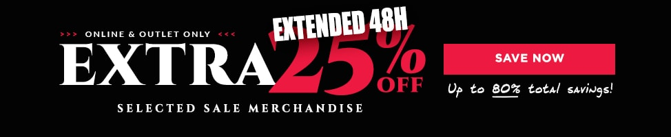 Extra 25% Off On Selected Styles