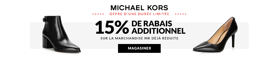 15% de rabais additionnel. Michael Kors.