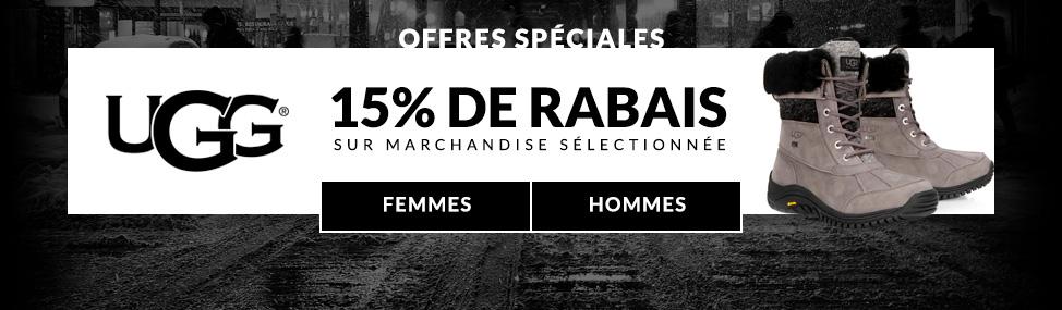 15% de rabais sur manchandise sélectionnée!